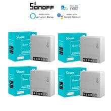 1-40pcs SONOFF MINIR2 Drahtlose Wifi DIY Mini R2 Schalter 2 Weg Verdrahtung Smart Home Automation, unterstützung eWeLink APP Alexa Google Hause