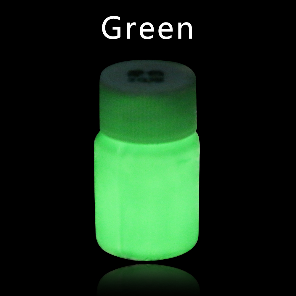 20g Green Luminous Paint Glow In The Dark Fluorescent Paint For Party Nails Decoration Halloween Crafts Phosphor Acrylic Paint