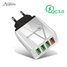 Chargeur USB Charge rapide 3.0 chargeur rapide QC 4.0 chargeur de téléphone portable mural pour iPhone 7 XR X Samsung Xiaomi ue/US adaptateur de prise