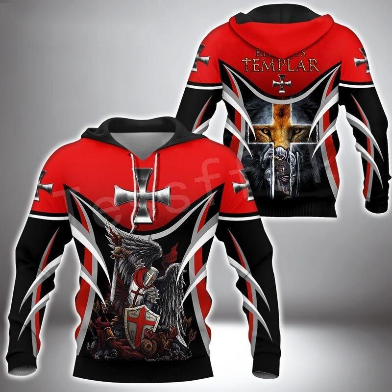 Tessffel Knights Templar Jesus Guard God Armor Pullover Streetwear NewFashion 3DPrint Men/Women Casual Funny Harajuku Hoodies 25