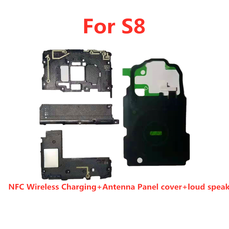 Antenna Panel Cover 4pcs/set For Samsung Galaxy <font><b>S8</b></font>/S8Plus S9/S9Plus Note8 <font><b>NFC</b></font> Wireless Charging + Antenna Panel cover + loud s image