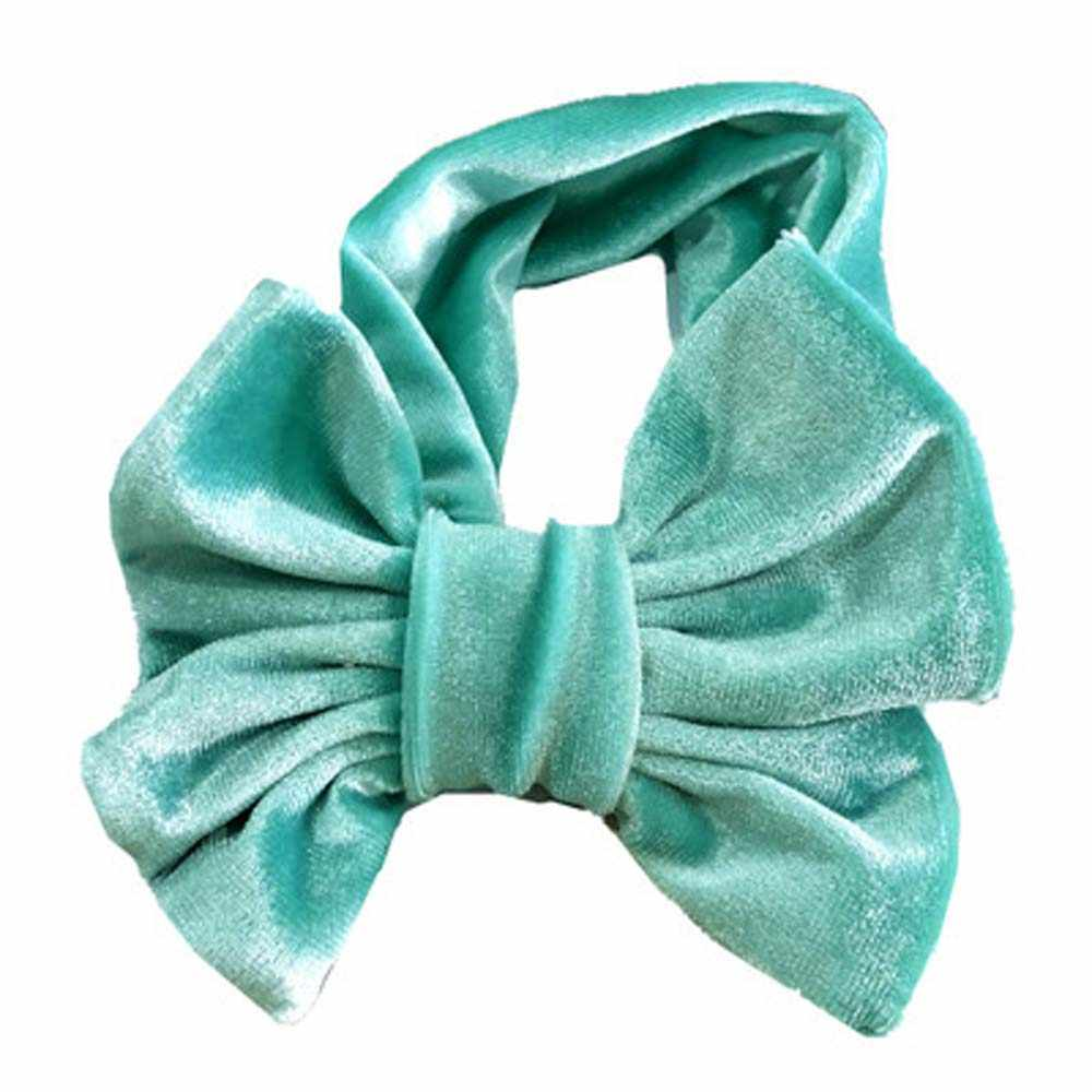 Cute Baby Girl Big Bow Velvet Headband Turban Knotted Ribbon Hair Band Infant Child Accessories Headwear Head Wrap