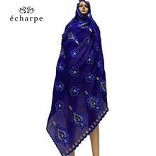 2020 nowa afrykańska kobiet 100% bawełniany szalik muzułmanki szale hidżab duży rozmiar bawełniany szalik na szale modlić się szale