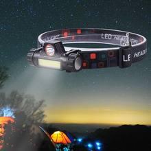 Miner'S лампа рыболовные огни фары фонарик движения инструмент для наружного применения езда освещение светодиодный 200 м черный ABS прочный