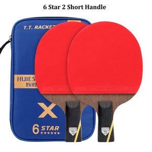Image 5 - Huieson וונגה פחמן סיבי להב 6 כוכב טניס שולחן מחבט דביק גומי סופר חזק פינג פונג מחבט בת