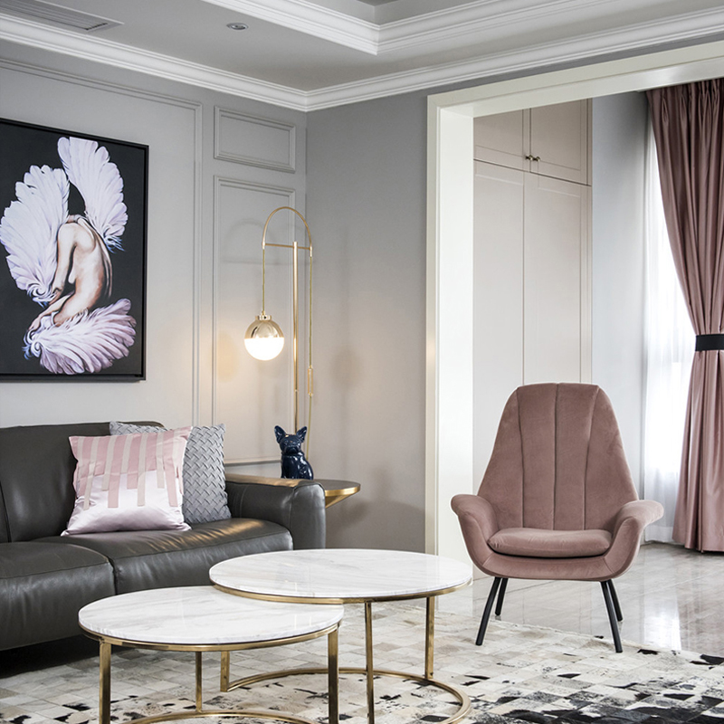 Nordic Modern Floor Lamp Simple Creative Ball Living Room Bedroom Lamp Atmospheric Home Restaurant Study Floor Lamp