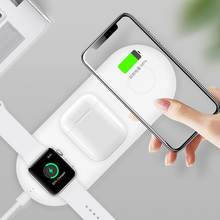 3 In 1 Wireless Charger Station For iPhone Samsung Qi Fast Charge Wireless Charging Pad For Apple Watch Airpods Charge Stand цена