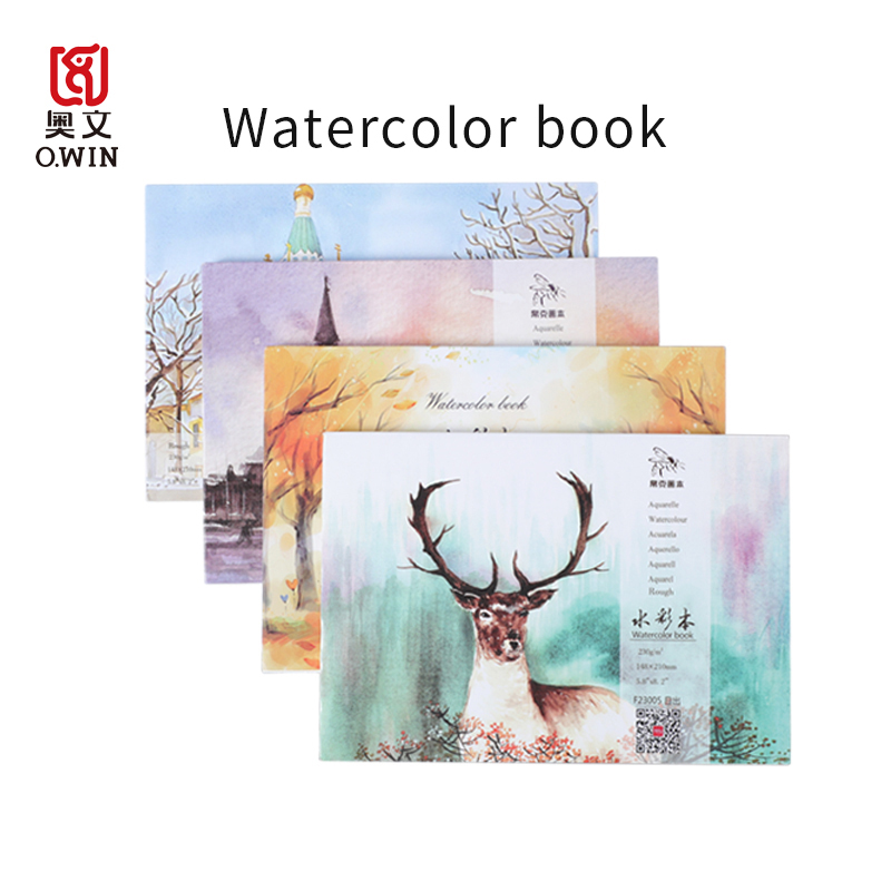 Watercolor Paper Square Sketchbook Drawing Notebooks Coloring Book Professional 50% Cotton 230g Art Supplies for Students