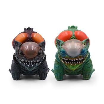 цена на 9CM Creative Alien Bulbasaur Action Figure Model Toys Anime Cartoon Mix Xenomorph Warrior Action Figure Collection Model Toys