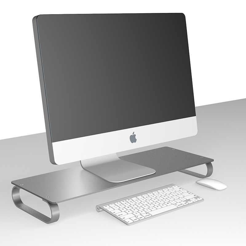 Monitor Riser อลูมิเนียม LCD LED จอแสดงผล Heighten ฐานขาตั้งแล็ปท็อปเดสก์ท็อประยะห่างประหยัดพลังงาน Lapdesk สำหรับ iMac MacBook