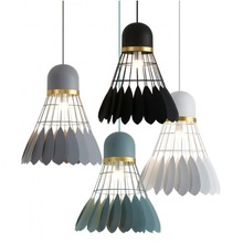 Nordic Creative Iron Design Badminton Restaurant Chandelier Bar Bedroom Balcony Jane European Chandelier Home Decoration