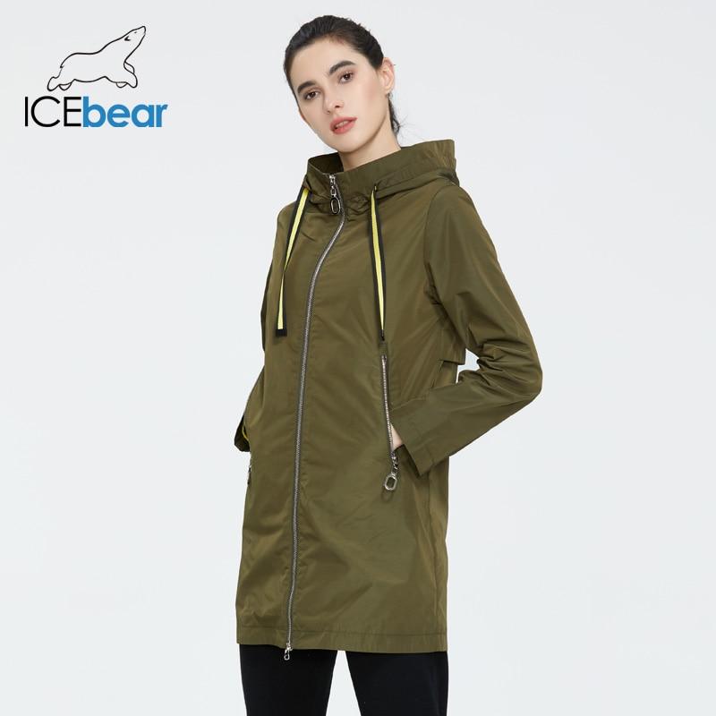 ICEbear 2020 Women's Spring Windbreaker Quality Women's Windbreaker Fashion Women Jacket Women Brand Clothing GWF20167I