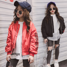 Weixu Childrens Jacket 2019 Spring Autumn Kids Embroidered Motorbike Short Zipper Jackets Coat Clothes for Girls 6 7 8 12 Years