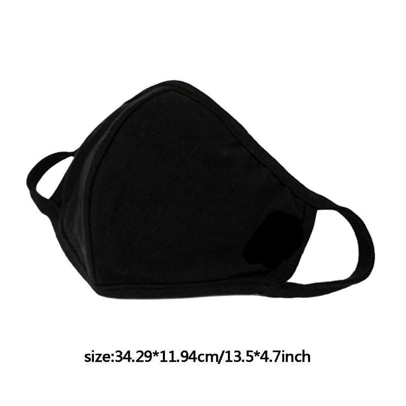 3pcs Anti-dust Breathable Protective Face Masks Unisex Black Washable Bacteria Proof Flu Face Masks Care