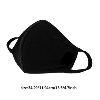 3pcs Anti-dust Breathable Protective Face Masks Unisex Black Washable Bacteria Proof Flu Face Masks Care