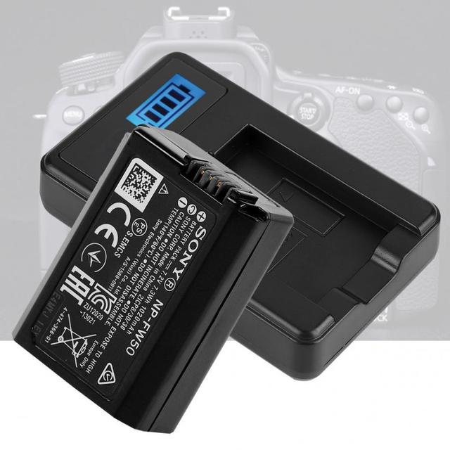 NP FW50 بطارية الكاميرا شاحن أجهزة سوني ألفا A6000 A6300 A6500 A7r A7 LCD USB شاحن مزدوج