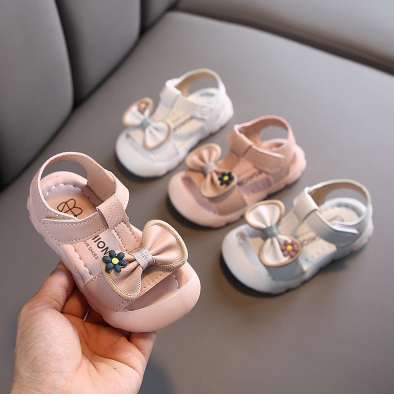 New Summer Style Girls Sandals Children Toddler Kids Girls Beach Sandals Cute Bow Girls Princess Shoes 0-3 Years Sneakers