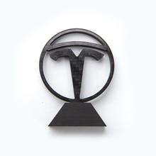 Etiqueta do tipo da fibra do carbono real para tesla modelo 3 y modelo x modelo s emblemas de pé frente traseira modificação do