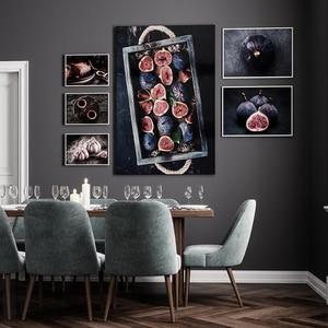 Еда кухонный плакат стены отпечатанная на холсте картина торт рис чеснок цветок чай живопись декоративные картины Современное украшение д...