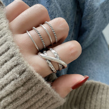 Ellipse 925 sterling silver rings for women resizable handmade 4 lines bague femme argent 925 accesorios fine jewelry