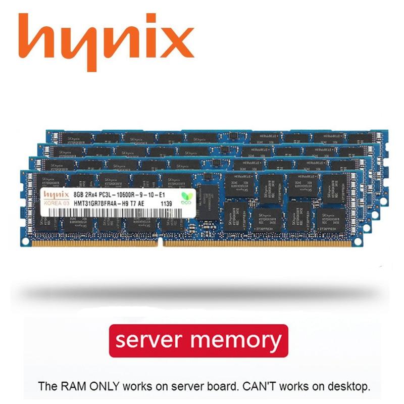 Hynix memória com 4gb 8gb 16gb 32gb, ddr3 pc3 pc3l, memória de servidor 1333mhz 1600mhz 1866 mhz 4g 8g 16g 32g 1333 1600mhz ram