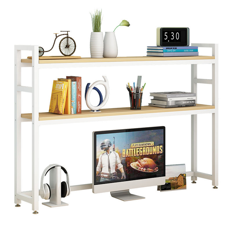 Student table shelf simple children's desktop small bookshelf rack office desk storage dormitory bookcase