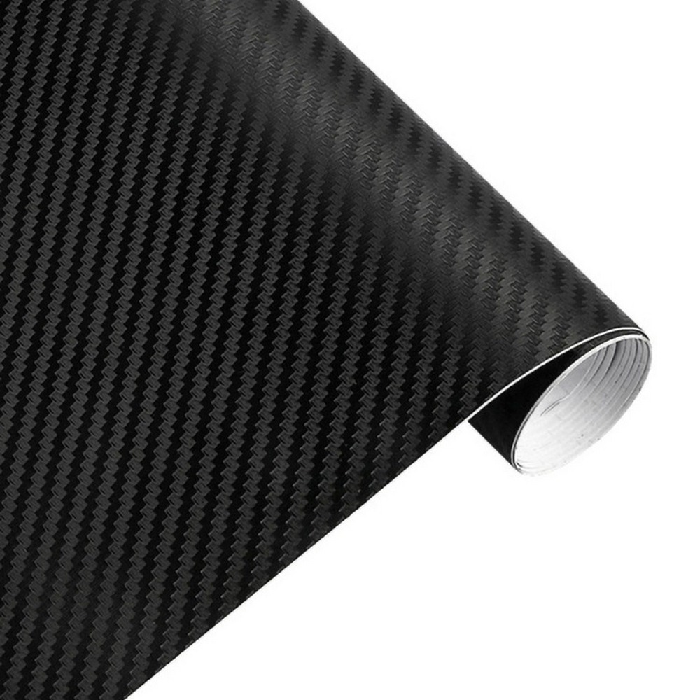 30cmx127cm 3D Carbon Fiber Vinyl Car Wrap Sheet Roll Film Car Stickers And Decals Car Styling Accessories Automobiles