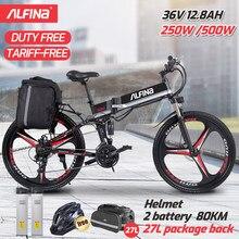 ALFINA – vélo électrique pliable de 26 pouces FX80, 36v, 12,8 ah, moteur de 250W, 25 KM/h, normes européennes