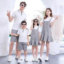 Новые модные Семейные одинаковые наряды одежда для пары костюмы