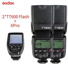 Godox 2 шт tt600 вспышка для камеры speedlite с xpro триггером