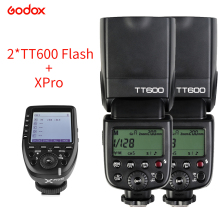 Godox 2PCS TT600 Camera Flash Speedlite with Xpro Trigger for Canon Nikon Sony Pentax Olympus Fuji 2x godox tt685 tt685n 2 4g wireless hss 1 8000s i ttl camera flash speedlite xpro n ttl trigger for nikon dslr camera