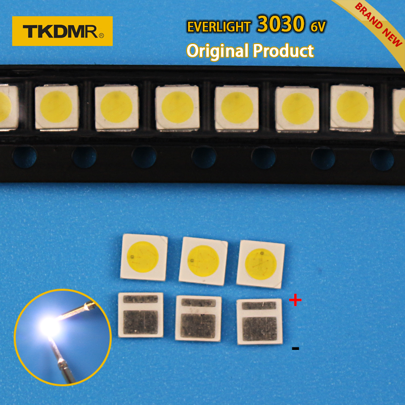 TKDMR 30pcs Led Tv Backlight 1.8W 3030 6V Kit Electronique Led Led For Lcd Tv Repair Assorted Pack Kit Cool White Free Shipping