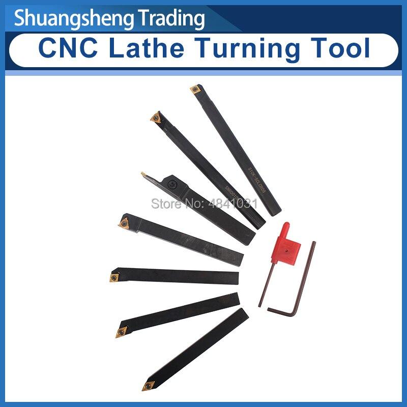 7pcs 10mm CNC Lathe Titanium plating Turning Tool Indexable CNC lathe tool