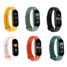 Montre connectée M5, Bluetooth, moniteur d'activité physique, fréquence cardiaque, moniteur sanguin