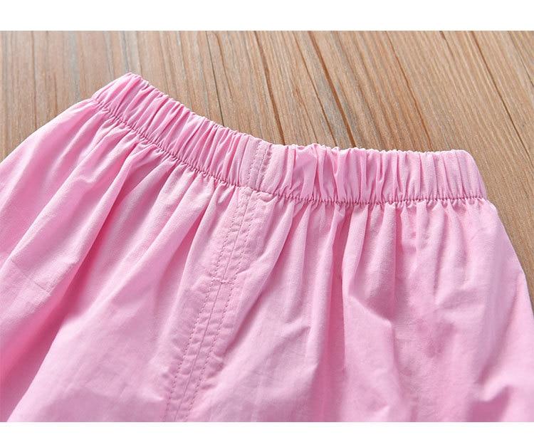 Hda558b4704f14a3db0cfaee3c0ae468d4 Humor Bear Girls Clothing Set 2020 Korean Summer New Ice Cream Bow T-shirt+Pants Kids Suit Toddler Baby Children's Clothes