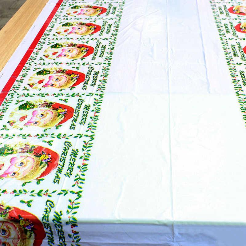 Mantel de PVC para mesa, decoraciones impermeables desechables, mantel liso para mesa de fiesta o cena, mantel de 110x180cm