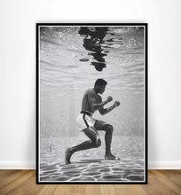 Nt468 pintura a óleo muhammad ali k. o jogo rei boxer motivacional poster imprime arte da parede imagem da lona sala de estar decoração casa