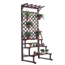 Wooden Shelves For Ladder Indoor Pot Scaffale Porta Piante Etagere Plante Stojak Na Kwiaty Shelf Outdoor Plant Rack Flower Stand(China)