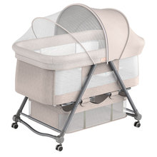 Portable Portable Baby Crib Foldable Height Adjustment Stitching Bed Baby Cradle Bed Baby Bassinet  Baby Beds  Baby  Swing