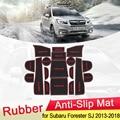 Противоскользящий резиновый коврик для Subaru Forester, Противоскользящий коврик для двери, канавка, подстаканник, слот для ворот, аксессуары для ...