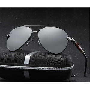 Polarized Sunglasses Man Mirror UV400 with Box Size:62-51-136mm Frame Metal Silver New