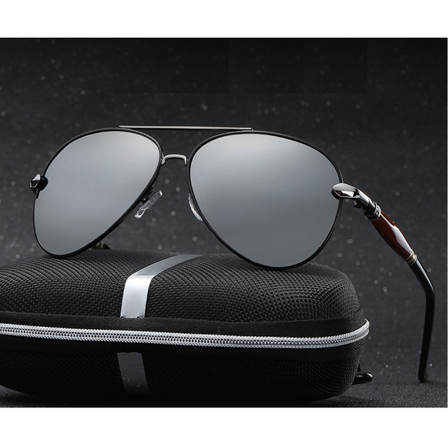 2020 جديد رجل الاستقطاب النظارات الشمسية الفضة إطار معدني UV400 عدسات عاكسة النظارات مع صندوق الحجم: 62 51 136mm