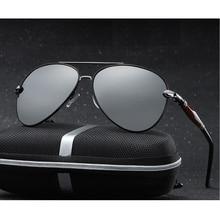 2020 novo homem polarizado óculos de sol prata metal frame uv400 espelho lente óculos com tamanho da caixa: 62 51 136mm