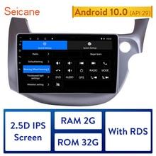 Seicane 2din Android 10.0 Auto Radio Voor 2007 2016 Honda Fit Jazz Rhd 10.1 Inch Hd Touch Screen Multimedia speler Gps Navigatie