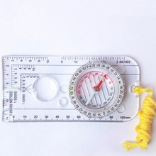 Handheld Compass Ruler Drawing-Scale Camping Pointing-Guide Hiking Portable Car Map 273325