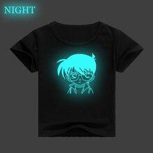 Detective Conan Luminous Kids T Shirt 3D Printed Children Clothes Baby Boys Girls Casual T-shirt Summer Short Sleeve Tee Tops