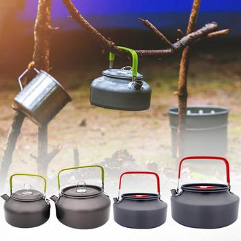 0.8 / 1.1 / 1.2 / 1.6L Portable Camping Boil Water Kettle Aluminum Alloy Outdoor Teapot Water Kettle Pot Coffee Picnic Tableware portable 0 8l outdoor hiking camping water kettles teapot coffee pot travel houseused hot water kettle