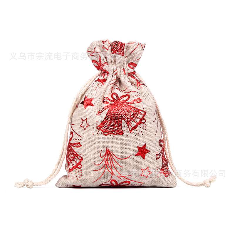 Drawstring Bag Bunches Fashion Women Printing Travel Small Men Casual Bags Unisex Women's Drawstring Cotton Christmas Tree