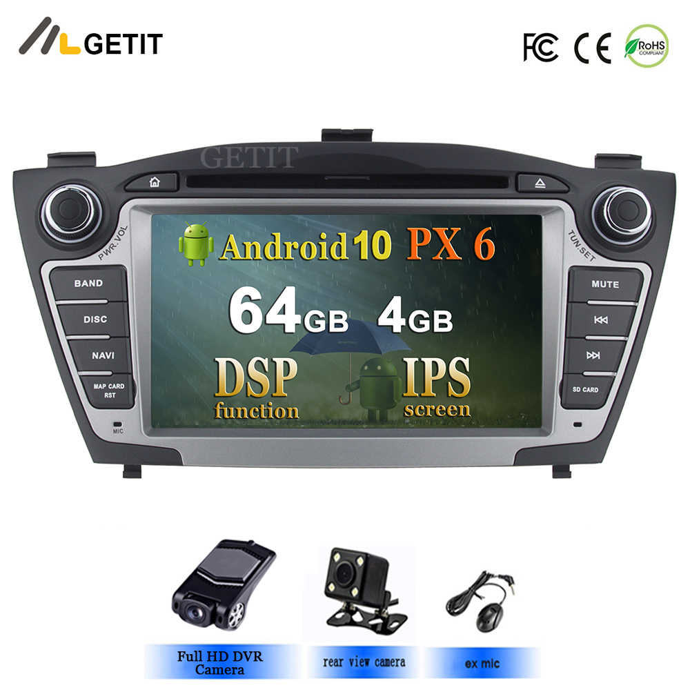 PX6 Dsp Mobil Multimedia Player GPS 2 DIN Android 10 untuk Hyundai/IX35/Tucson 2009-2015 CANBUS auto Radio USB DVR Pemutar DVD DSP FM