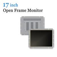 17 inch Open Frame Industrial LCD Monitor USB Touchscreen Monitor with VGA HDMI DVI BNC AV TV
